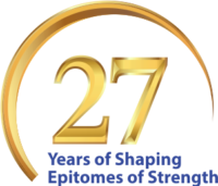 27 year logo Golden